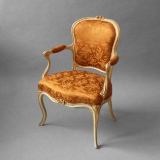 A Louis XV Painted Salon Armchair