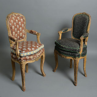 A Pair of Louis XV Children's Chairs