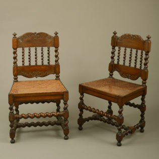 An Early 18th Century Pair of Cape Dutch Stinkwood Chairs