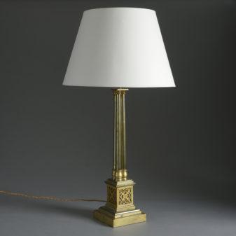 Brass Cluster Column Lamp