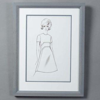 A Mid-20th Century Fashion Illustration