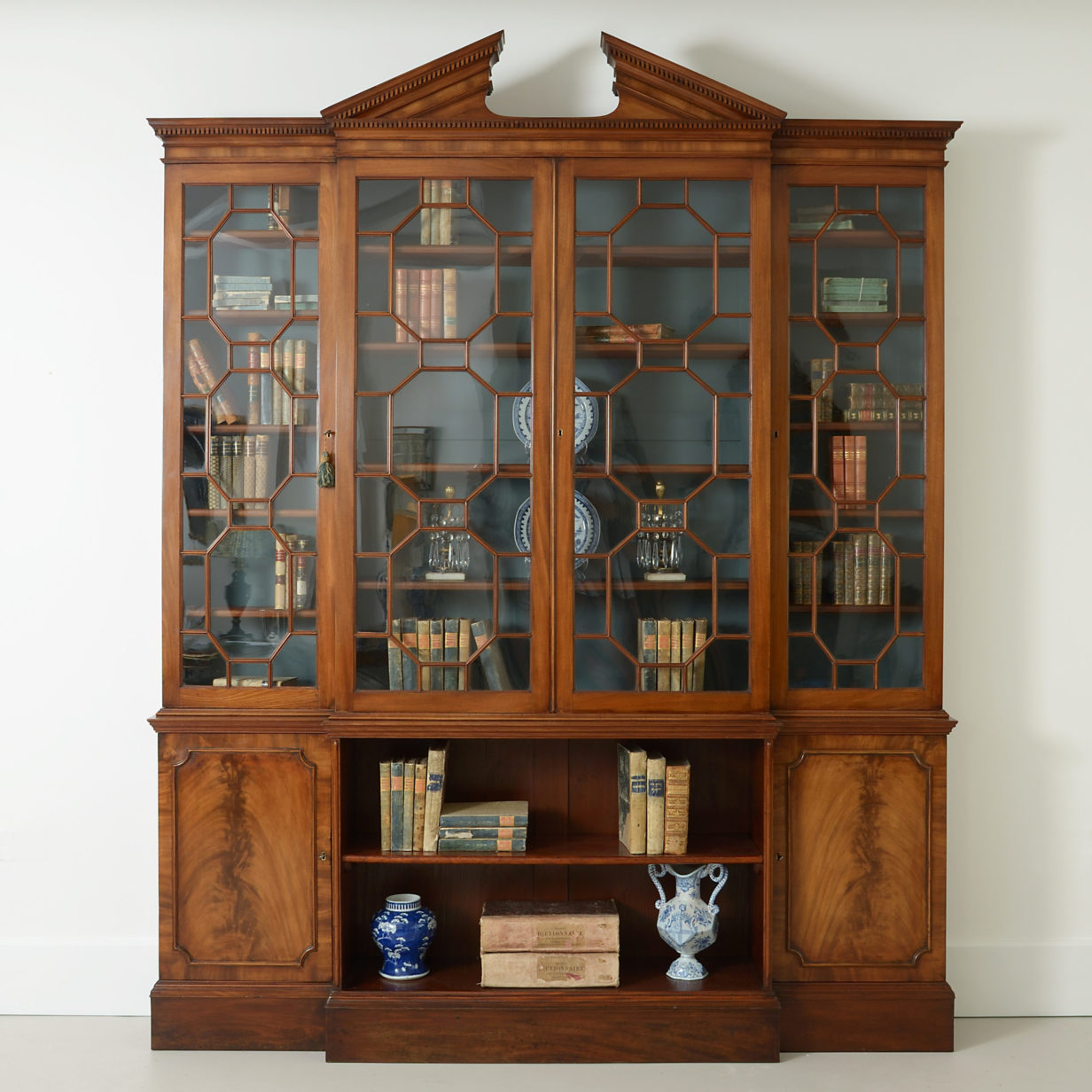 Chippendale Breakfront Bookcase