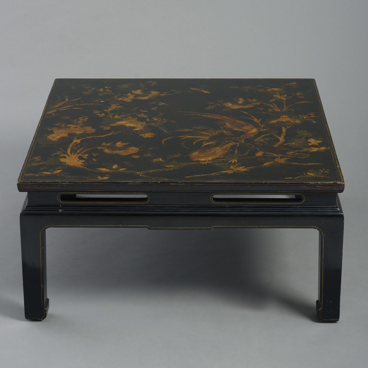 Black Lacquer Low Table