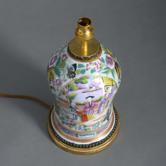 A 19th Century Famille Rose Vase as a Lamp