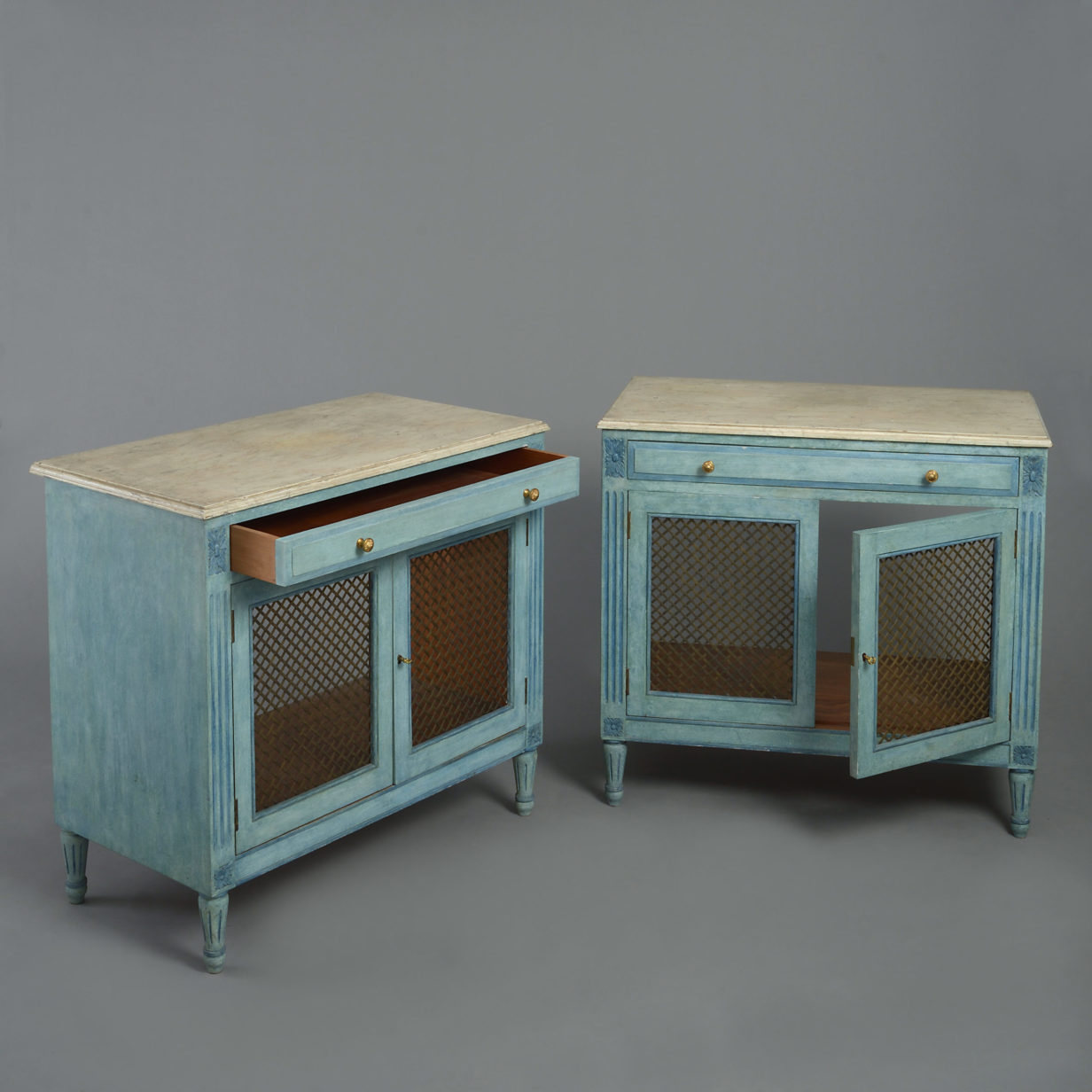 Pair of Painted Side Cabinets