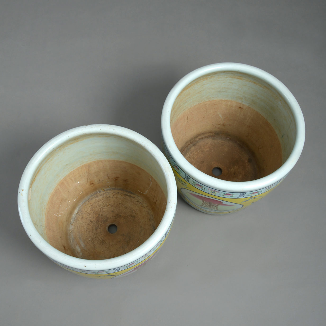 Pair of Large Chinese Planters