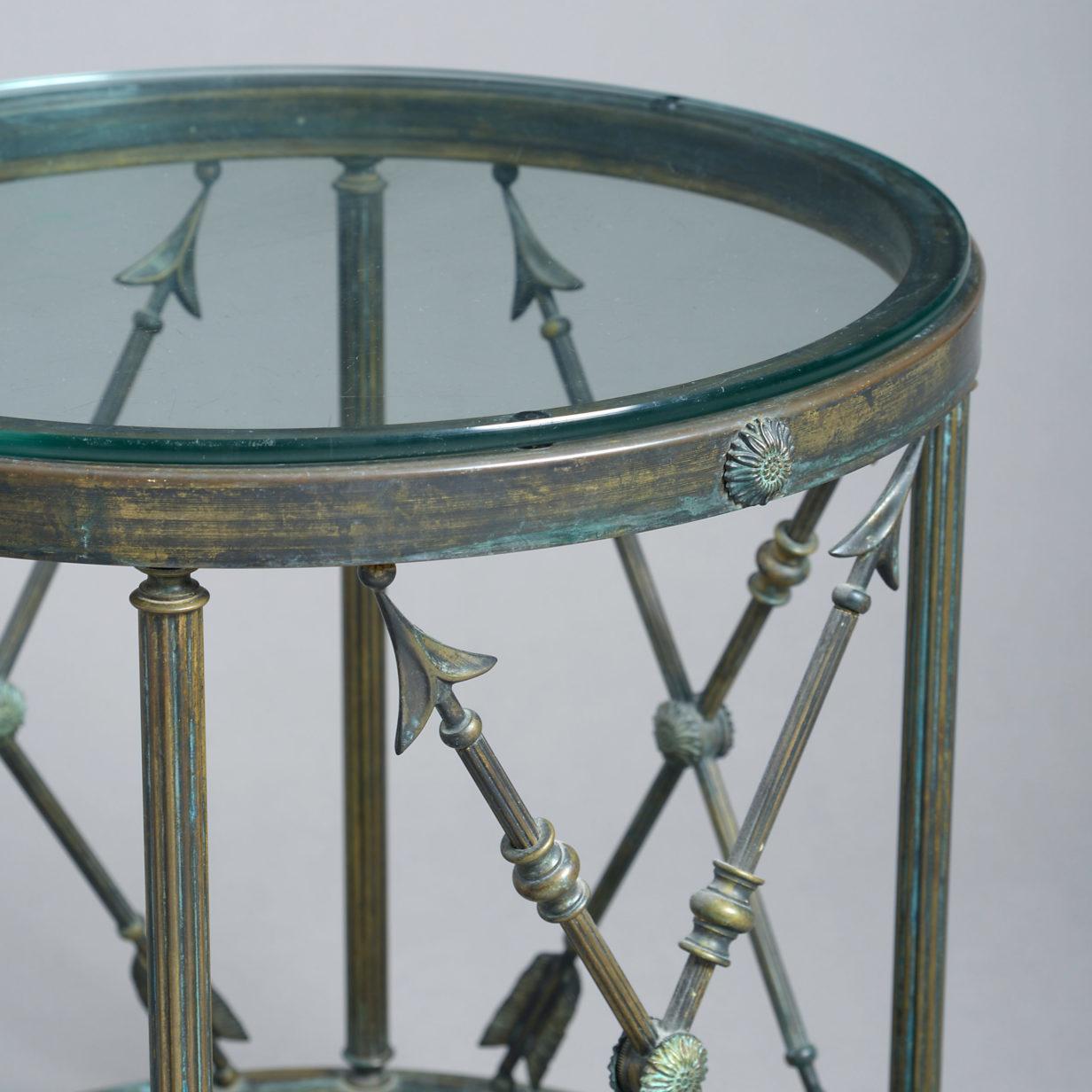Arrow Drum Table