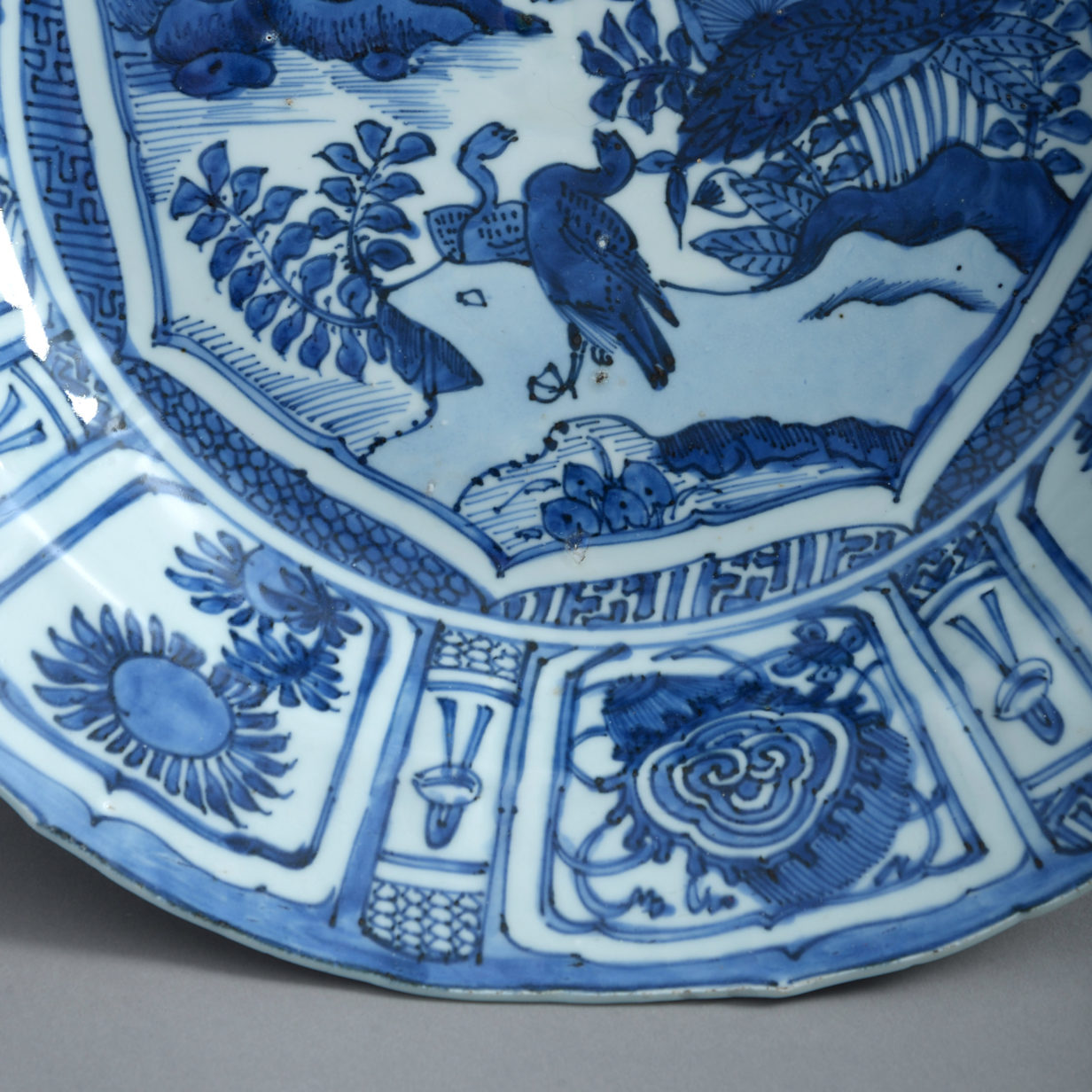 A Blue and White Kraakware Charger