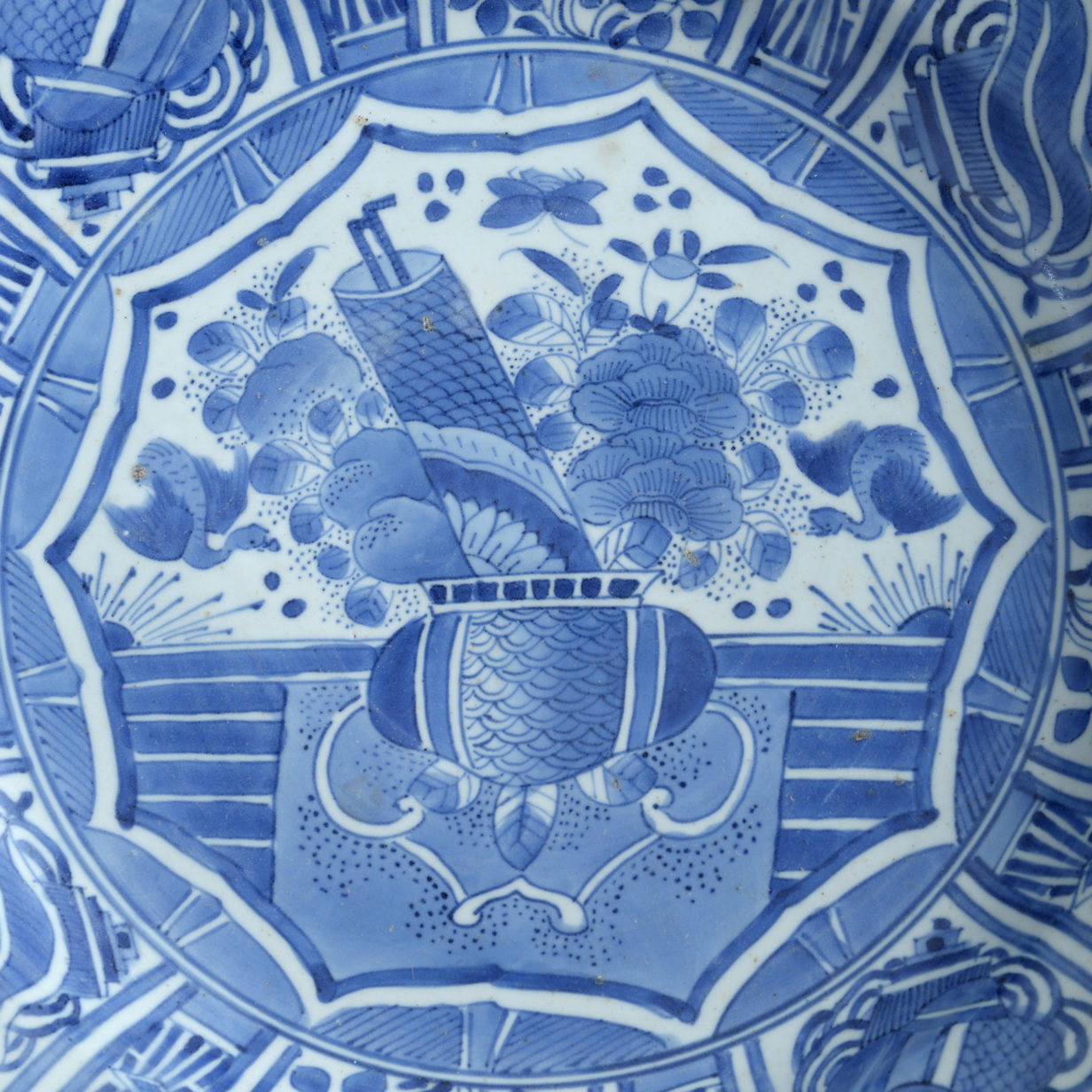 A Japanese Blue and White Kraakware Charger