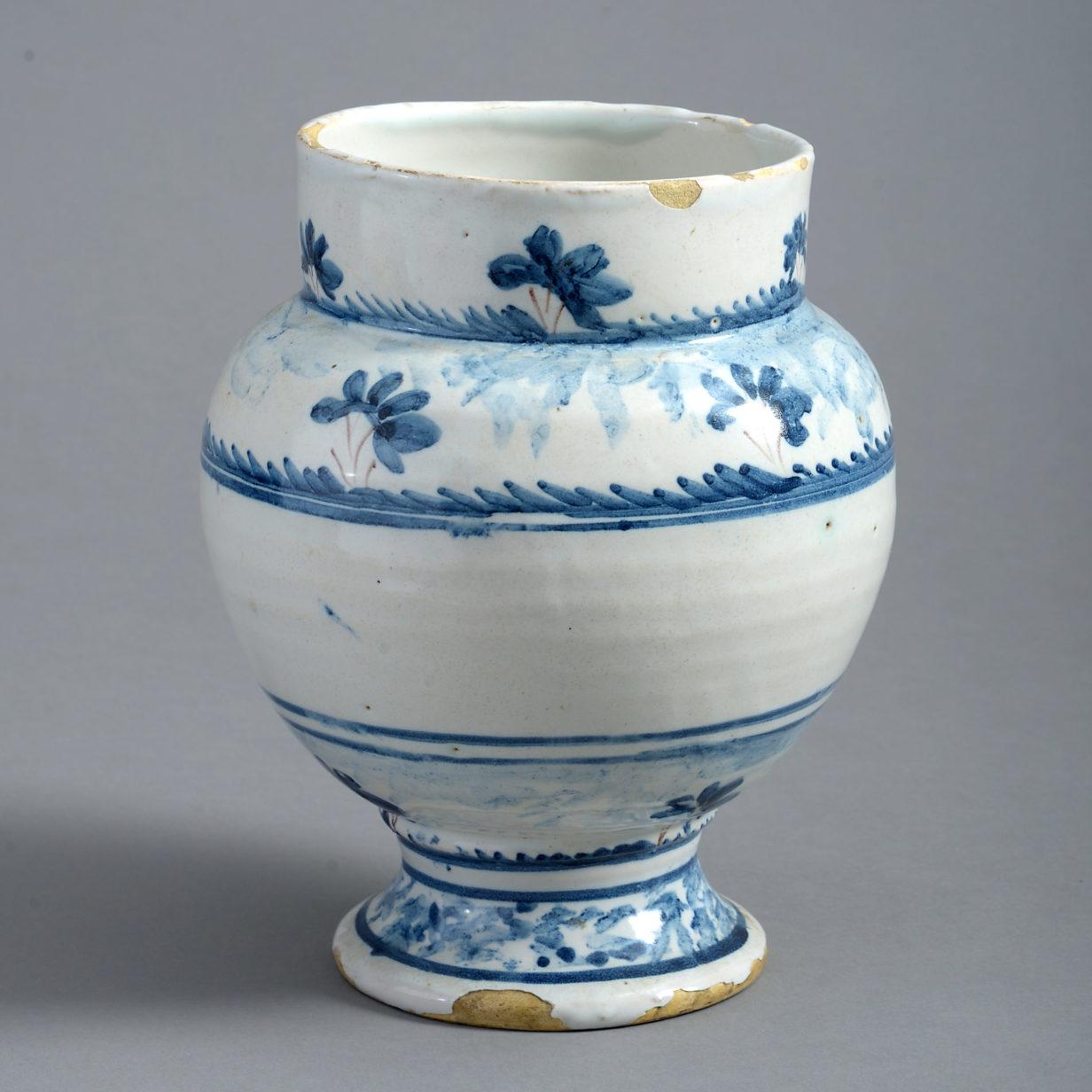 Blue and White Delft Vase
