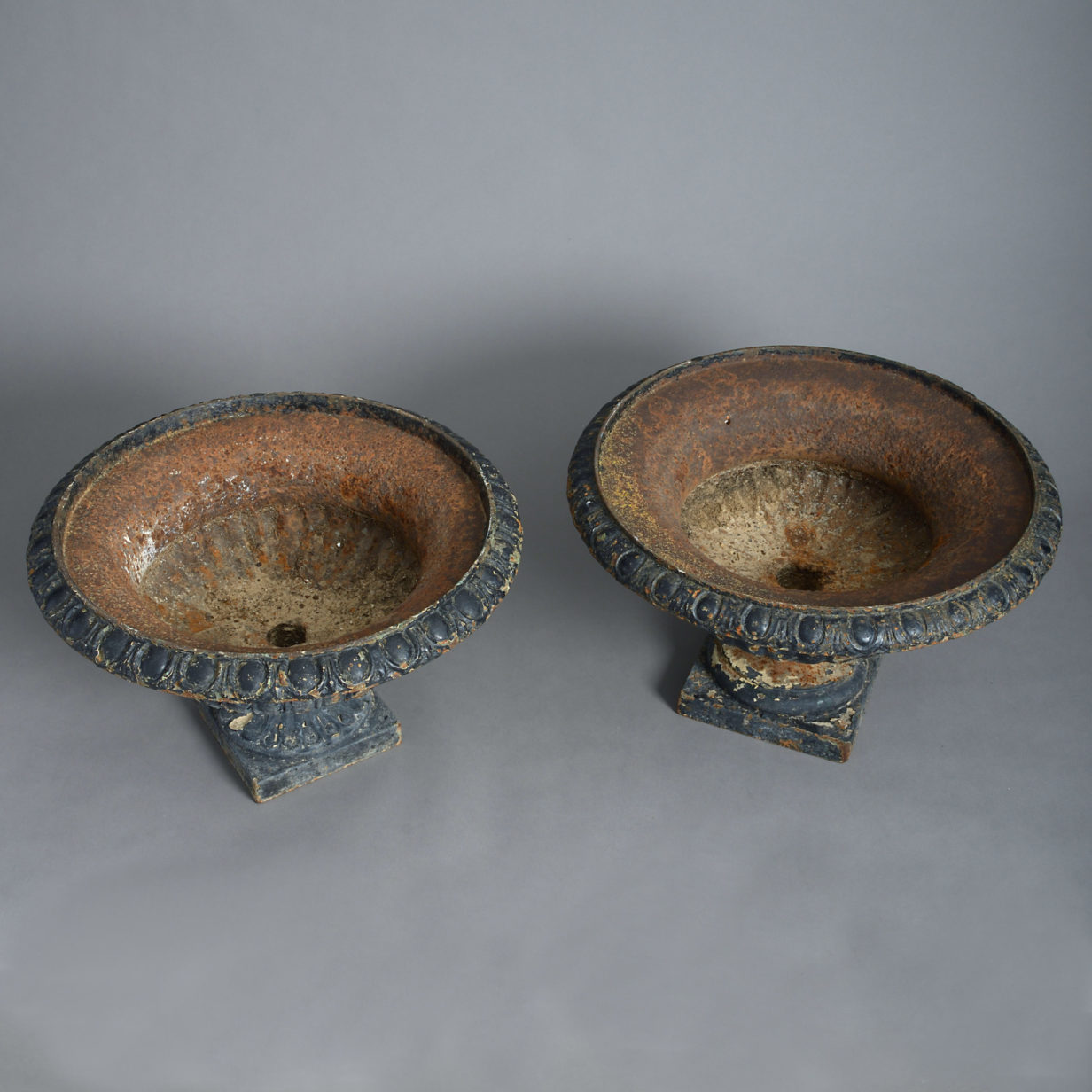 Pair of Cast Iron Tazze