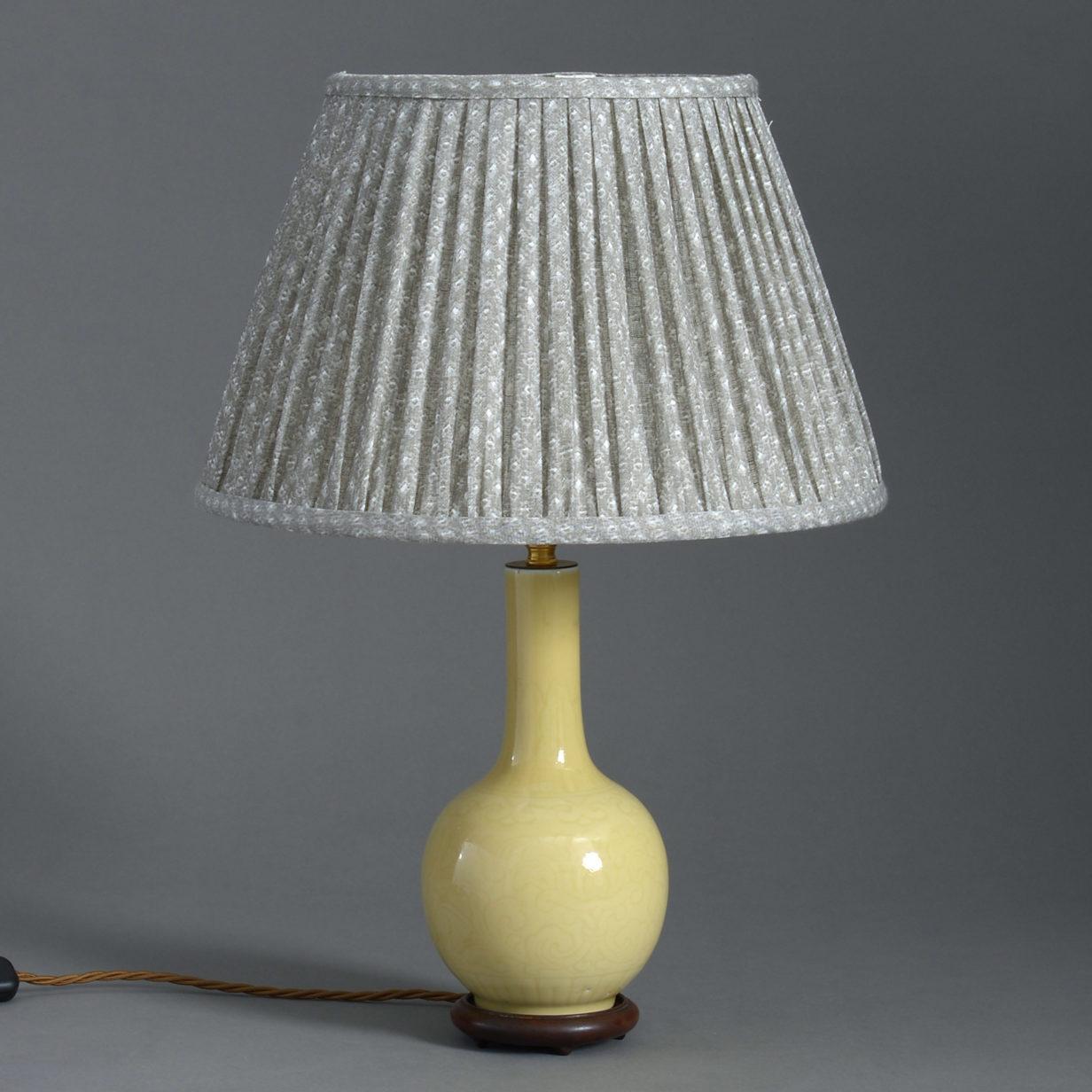 Yellow Bottle Vase Lamp