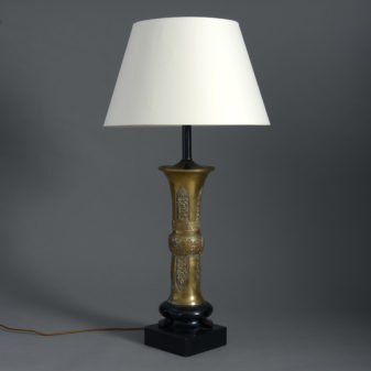 Chinese Bronze Lamp