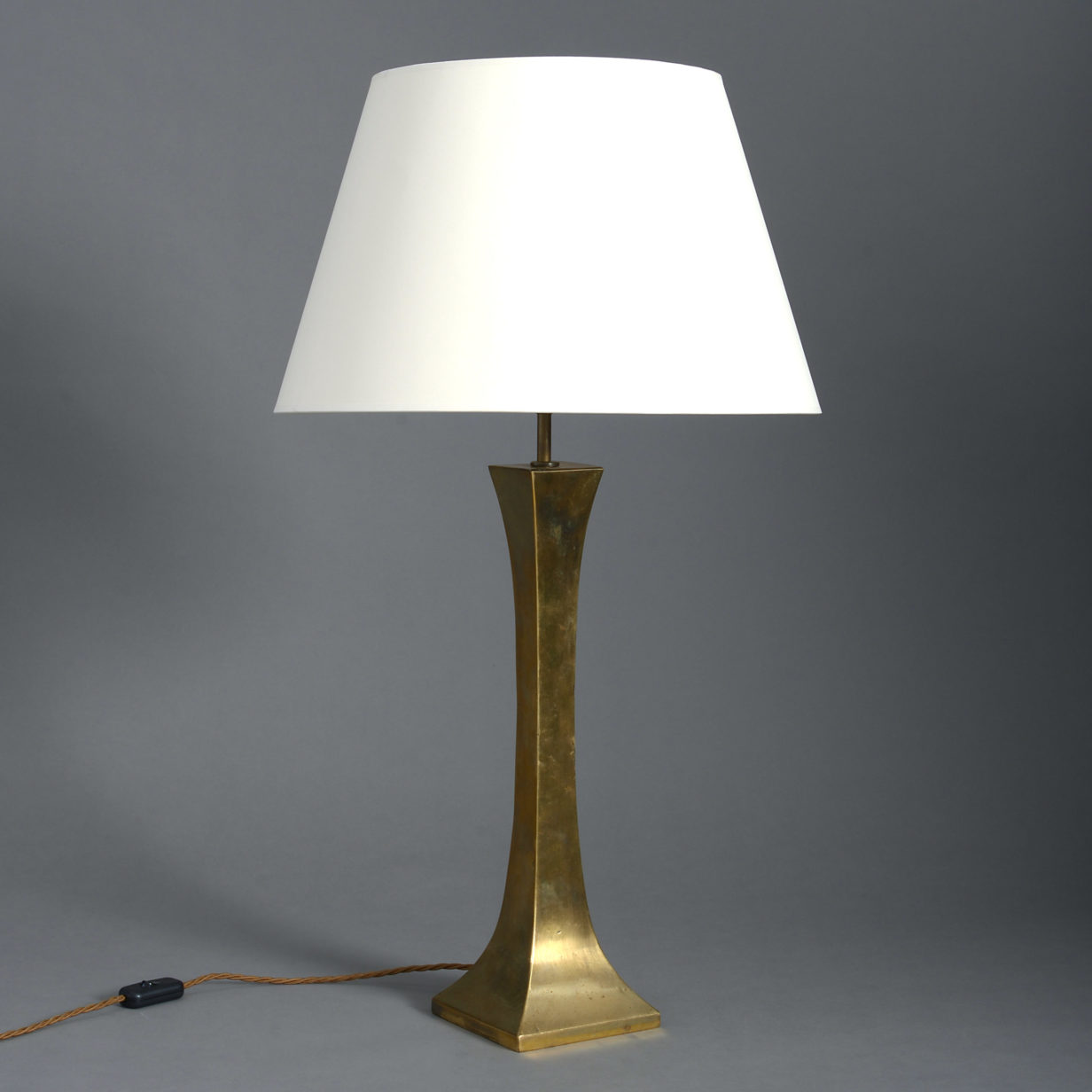 Square Brass Table Lamp