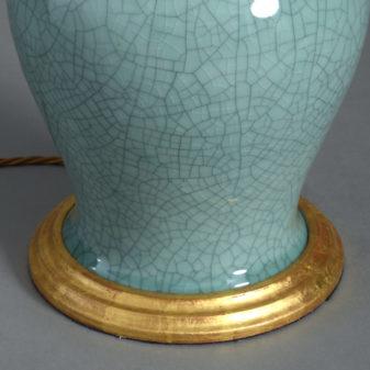 Celadon Vase Lamp