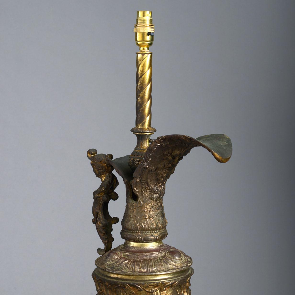 A Gilt Metal Ewer