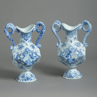 Pair of Faience Vases