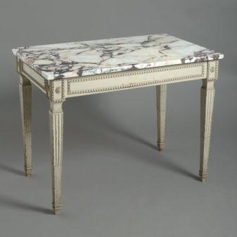Louis XVI Marble Topped Table