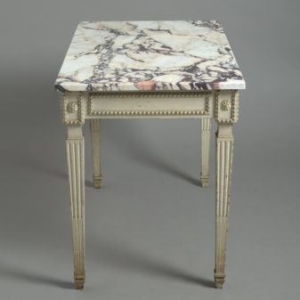 Louis XVI Style Marble Topped Table