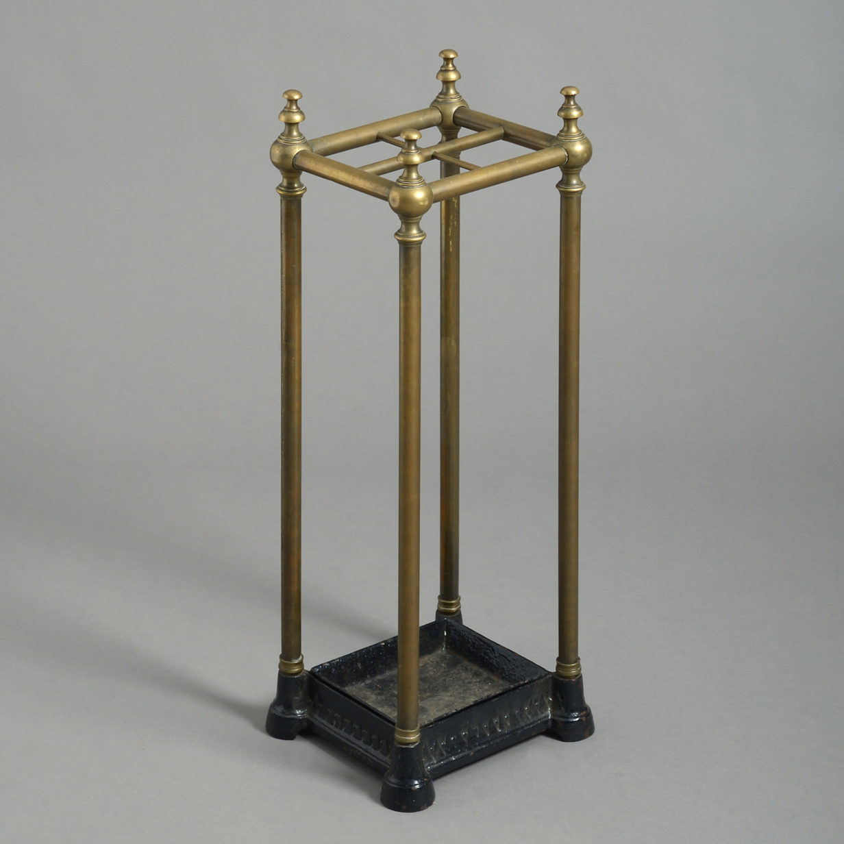 Square Brass Stick Stand