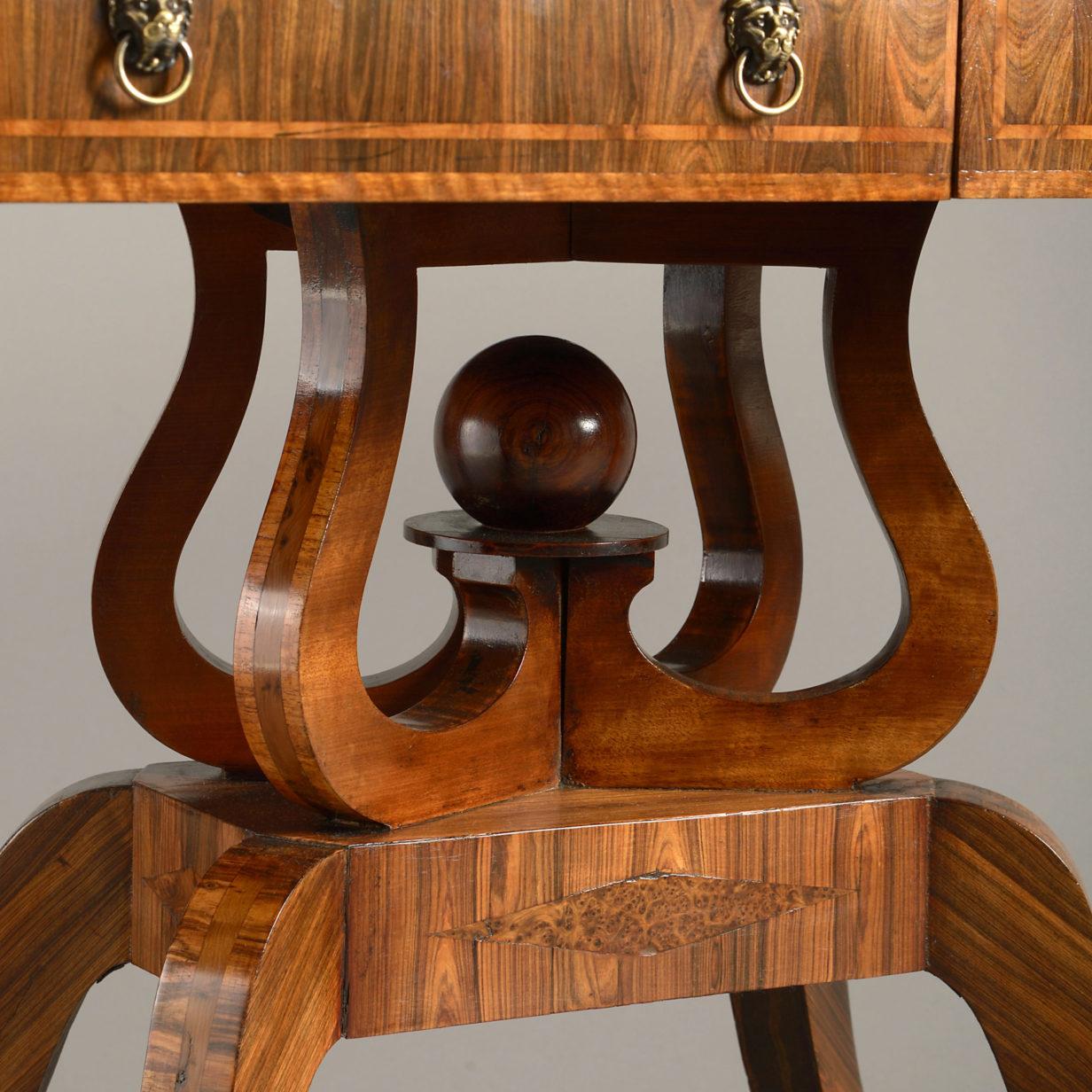 A Regency Period Sofa Table