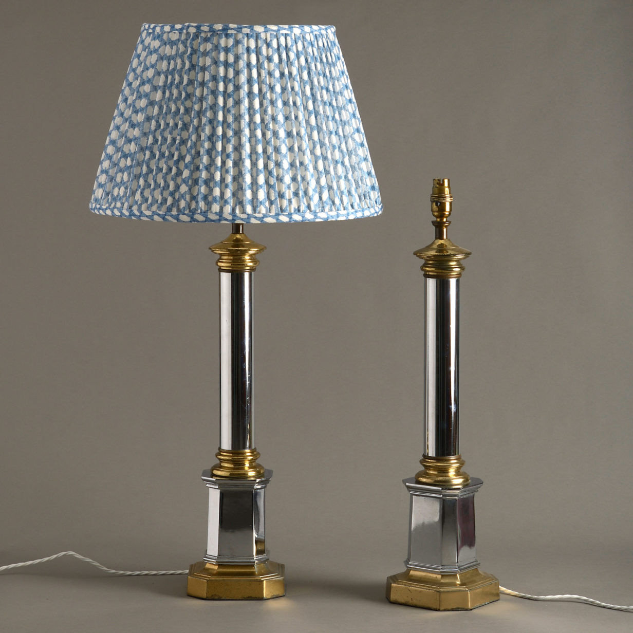 Pair of Chrome Lamps