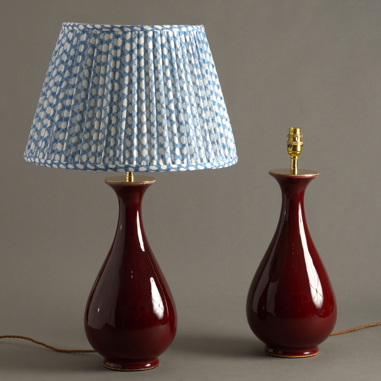 Pair of Red Pear Lamps