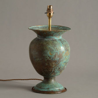 A Copper Vase Lamp Base