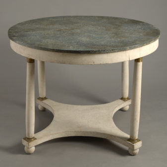 Painted Empire Style Centre Table
