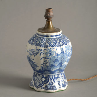 Blue and White Delft Lamp