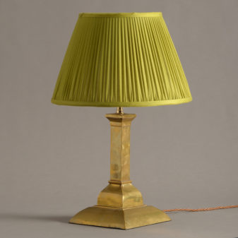 A Square Brass Table Lamp