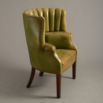 A George III Style Leather Armchair