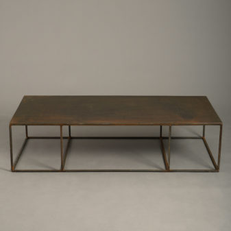 A Mid-century Steel Low Table
