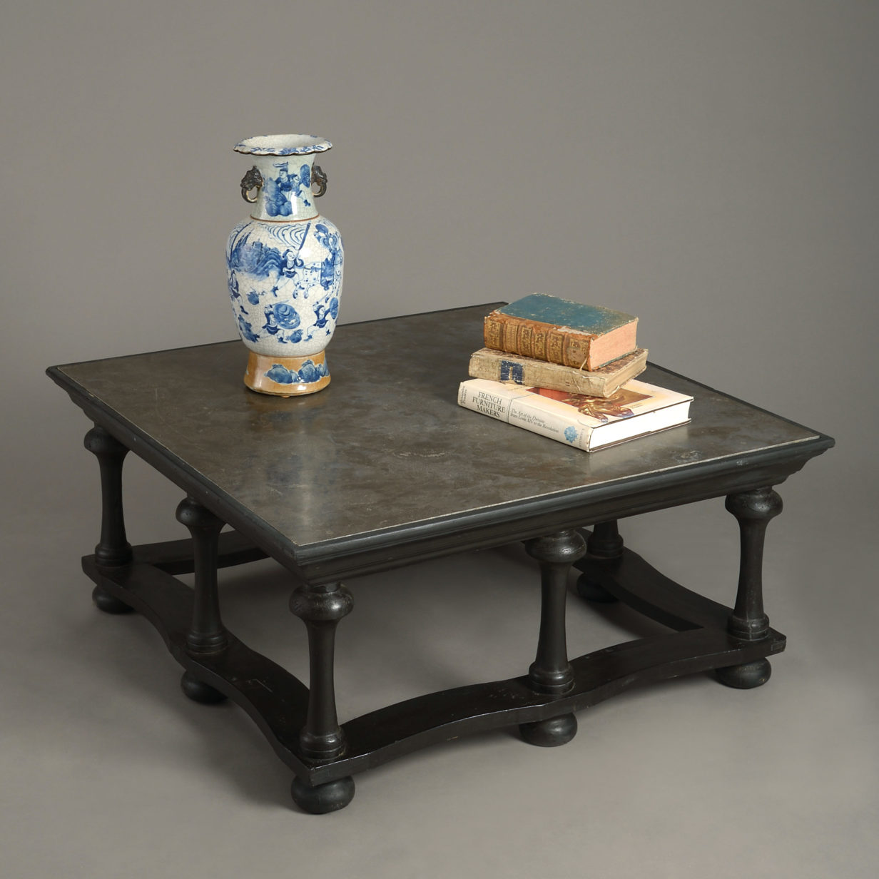 An Ebonised Low Table