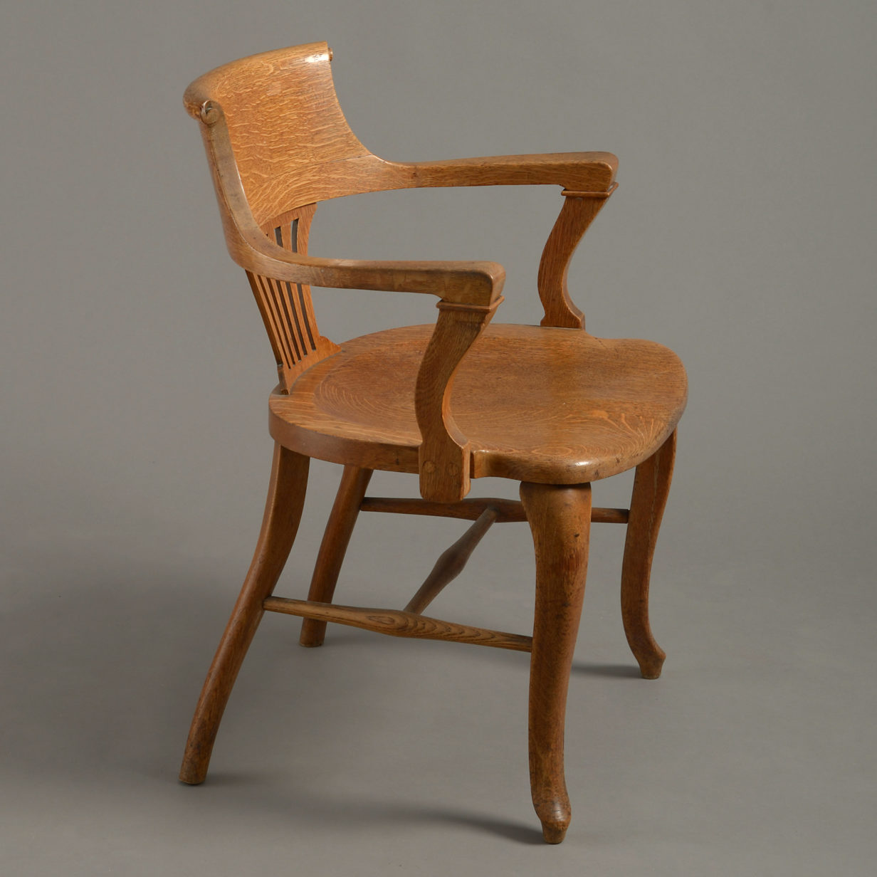 Pair of American Oak Armchairs
