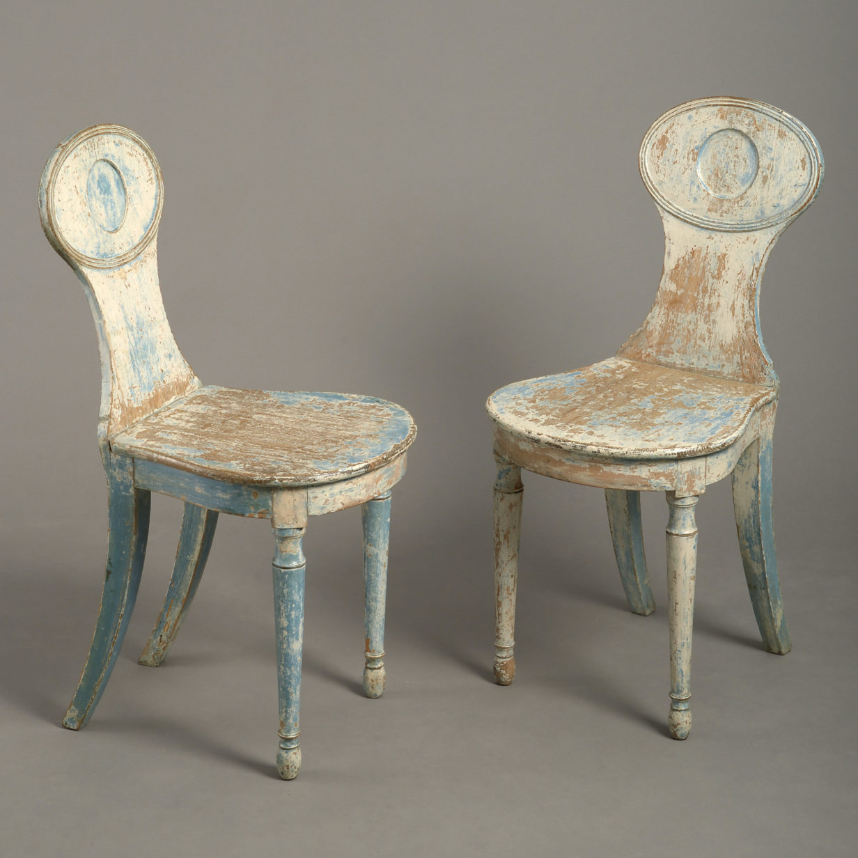 Pair of John Gee Hall Chairs