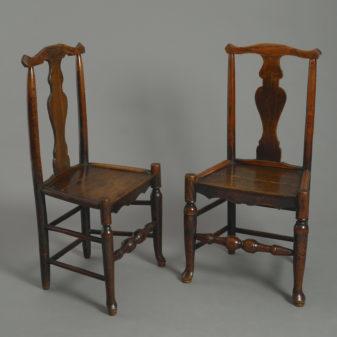 Four Shropshire Elm Chairs