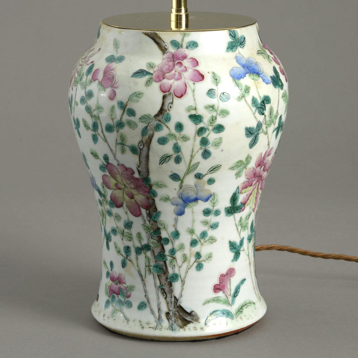 Famille Rose Vase Lamp