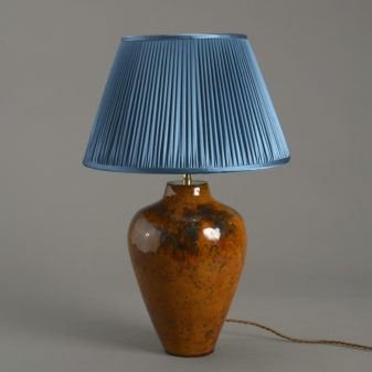 A Studio Pottery Vase Lamp