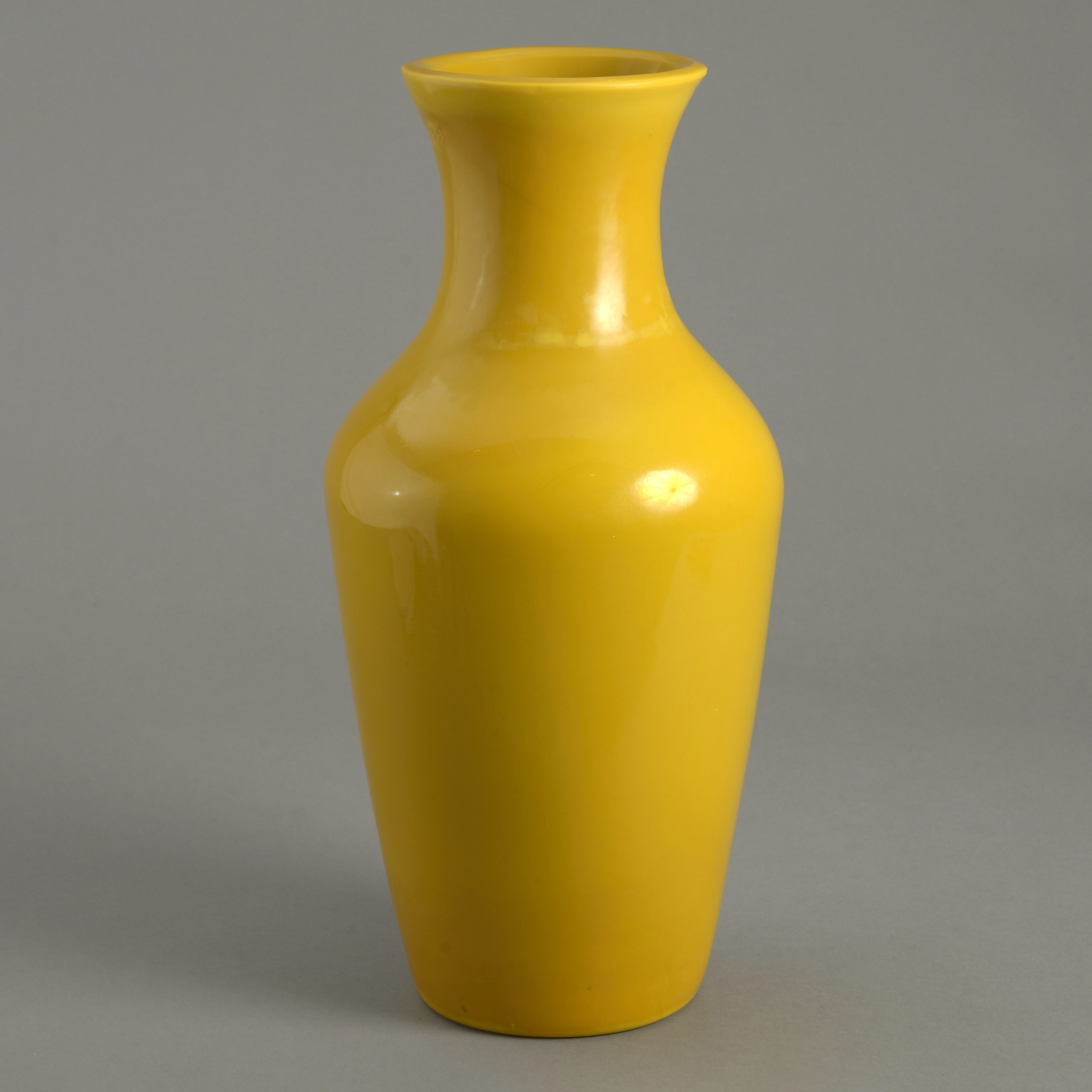 Yellow Peking Glass Vase