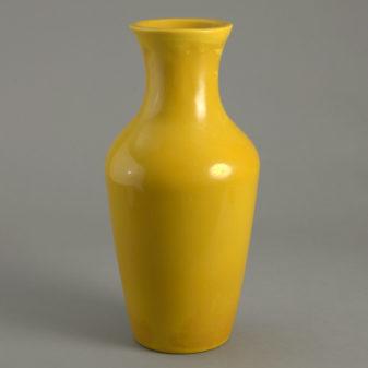 Yellow Peking Glass Vase