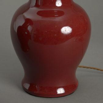 Pair of Trumpet Neck Red Vases