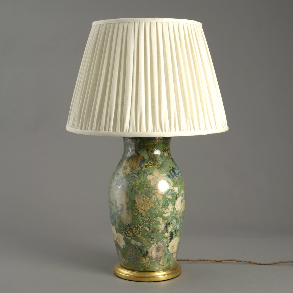 A Decalcomania Vase Lamp