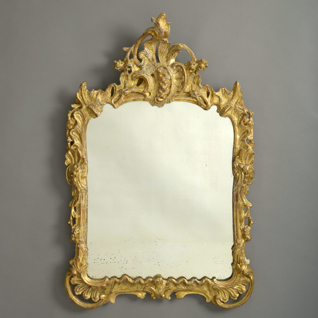 Louis XV Giltwood Rococo Mirror