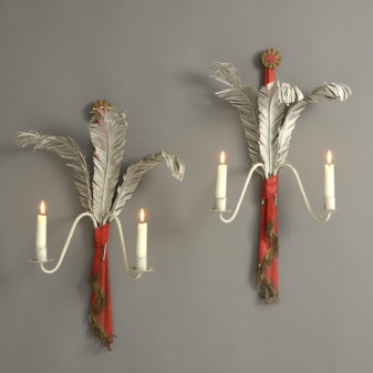 Prince of Wales Feather Wall Lights