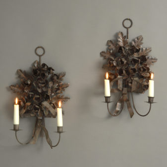 Pair of Tole Wall Lights