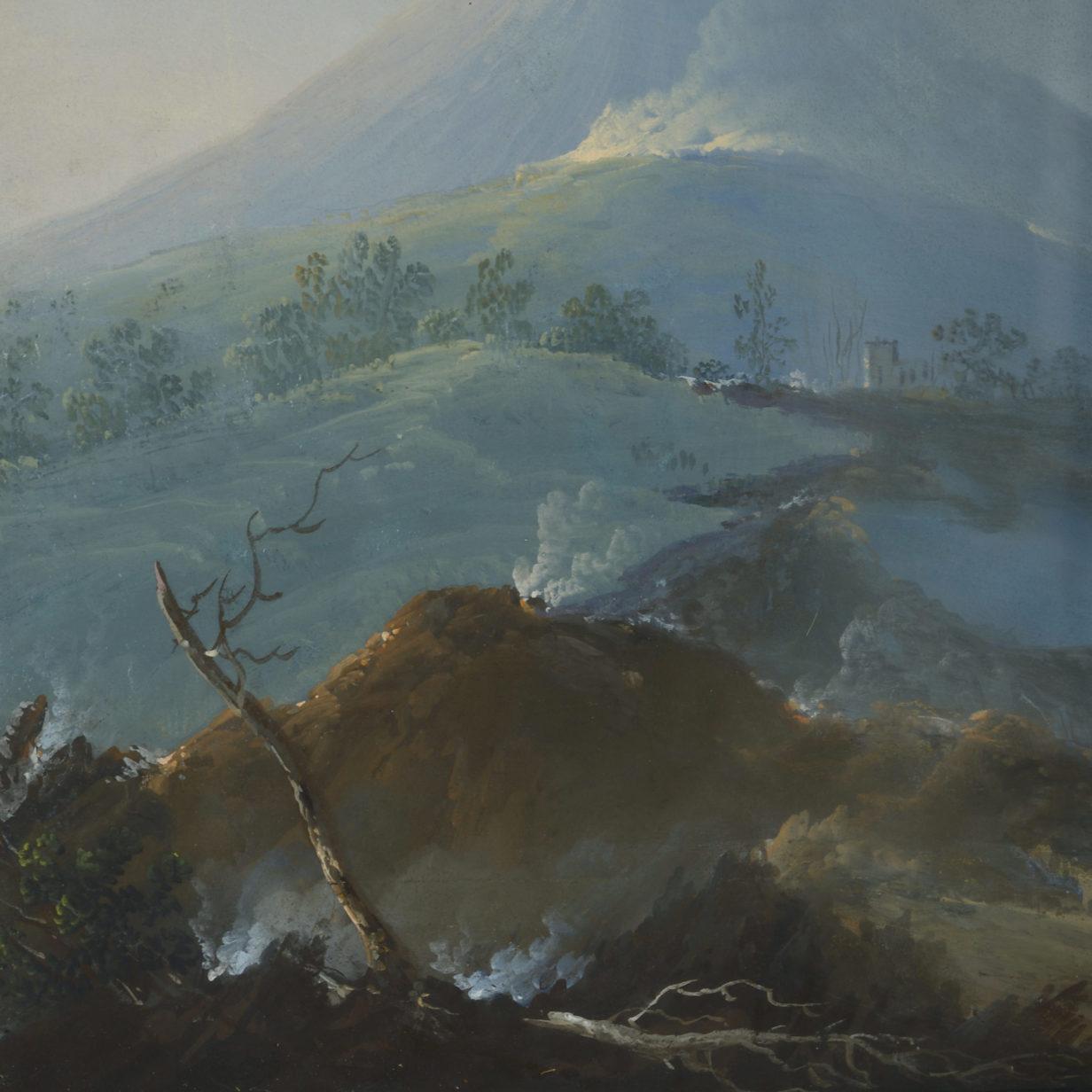 Vesuvius Gouache