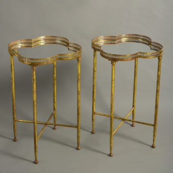 Pair of Gilt End Tables