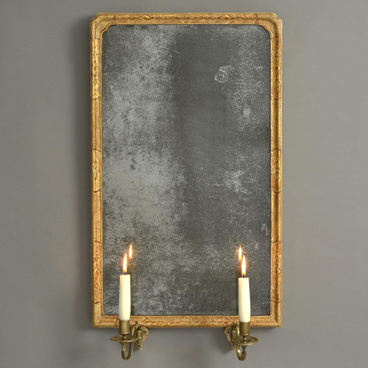 George I Gilt Gesso Girandole Mirror