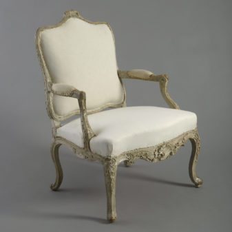 Painted Rococo Fauteuil